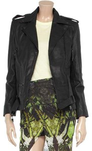 Sara Berman Leather Moto Zipper Motorcycle Jacket