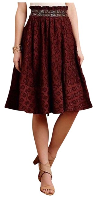 Preload https://img-static.tradesy.com/item/20125238/anthropologie-maroon-red-anthro-maeve-diamond-cut-skirt-size-6-s-28-0-5-650-650.jpg