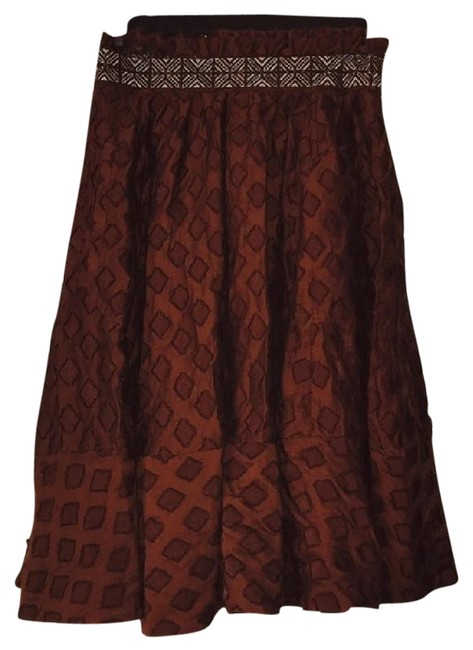 Anthropologie Skirt Maroon Red Image 2