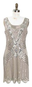 Adrianna Papell Flapper 1920's Beaded Retro Dress
