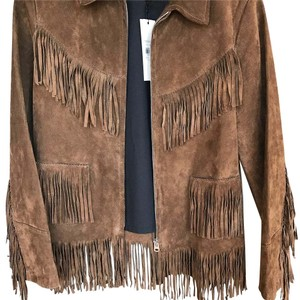 Topshop Brown Leather Jacket