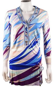 Emilio Pucci short dress Multi Classic Abstract Geometric Blue on Tradesy
