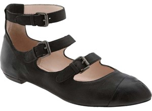 Plenty by Tracy Reese Leather Pointed Toe Black Flats