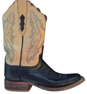 Lucchese Navy/tan Boots