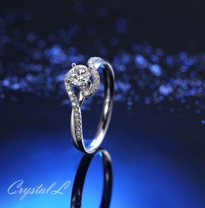 Silver Women Sapphire White Gold Plated Engagement Ring
