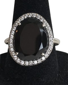 PANDORA Pandora Glamorous Legacy Ring, Black Spinel & Clear CZ