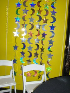 Stars & Moons Holographic Curtains (set Of 2)