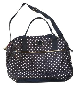 Kate Spade Black & Ivory Polka Dots Travel Bag