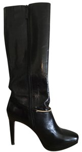 Nine West Black Patent Leather Boots