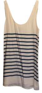 Joie short dress White with blue stripes on Tradesy
