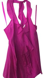 Banana Republic Fuscia Halter Top