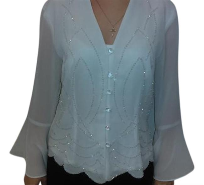 Preload https://img-static.tradesy.com/item/20125895/white-and-black-caliendo-blouse-size-8-m-0-1-650-650.jpg