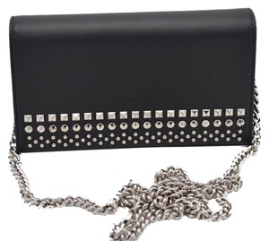Gucci Studded Leather BLACK Clutch
