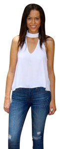 Olivaceous Choker Top white
