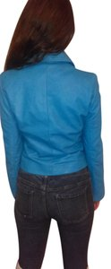 Sin by morgan cooper Blue Leather Jacket