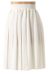 Anthropologie Summer Breezy Picnic Tea Flowy Skirt Off-white