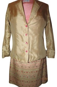 Other 5 pieces Silk Gold Skirt Suit