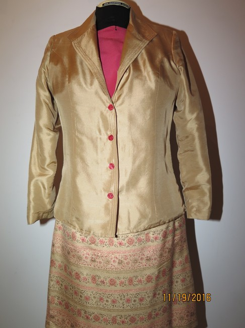 Other 5 pieces Silk Gold Skirt Suit Image 5