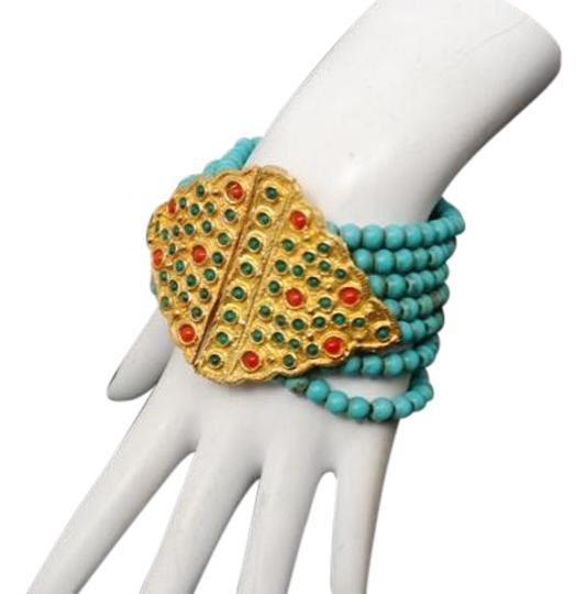 Preload https://img-static.tradesy.com/item/20126031/gold-turquoise-multi-color-unsigned-vermeilturquoise-beaded-7-78-long-bracelet-0-3-540-540.jpg