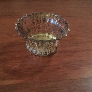 Pier 1 Imports Gold Silver Mercury Glass Tea Light Candle Holders Centerpiece