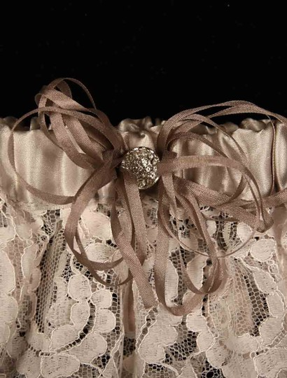 Ossai Light Ivory and Taupe Ss10-gt-04 Wedding Bridal Garter Image 1