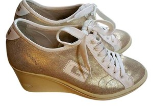 Guess Joggers Gold and Cream Wedges