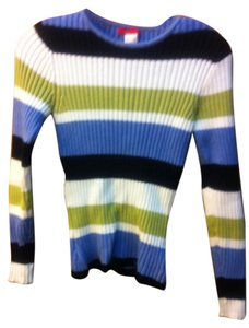 Anne Klein Form Fitting Striped Sweater