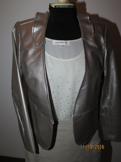 Other 3 piece faux leather jacket beaded top handmade skirt Image 3