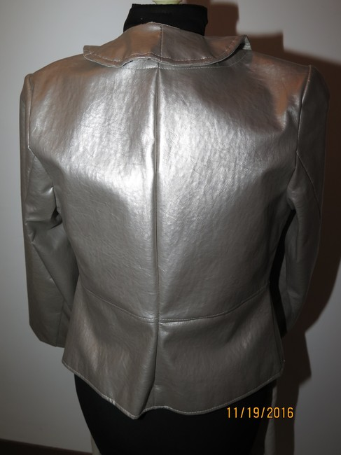 Other 3 piece faux leather jacket beaded top handmade skirt Image 4