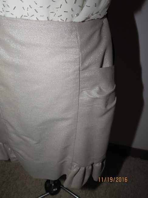 Other 3 piece faux leather jacket beaded top handmade skirt Image 9