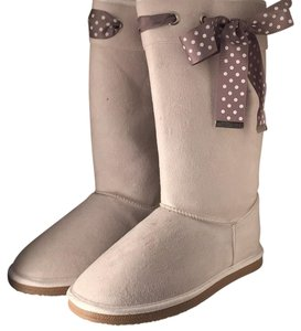 JustFab Beige/gray Boots