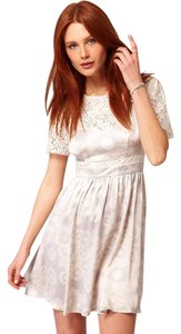 Whistles short dress Grey Daisy Silk Lace on Tradesy