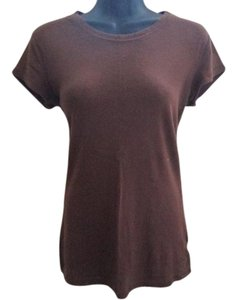 Arizona Jean Company Casual Basic Fall Autumn T Shirt Brown