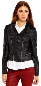 A.B.S. by Allen Schwartz Moto Faux Leather Motorcycle Jacket