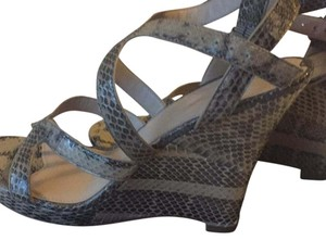 Via Spiga Tan, taupe, black Wedges