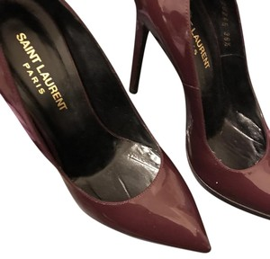 Saint Laurent Eggplant Pumps