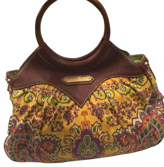 Preload https://img-static.tradesy.com/item/20126488/isabella-fiore-print-and-brown-leather-fabricleather-satchel-0-1-540-540.jpg