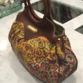 Isabella Fiore Satchel in Print And Brown Leather Image 1