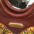 Isabella Fiore Satchel in Print And Brown Leather Image 10
