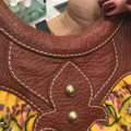 Isabella Fiore Satchel in Print And Brown Leather Image 11