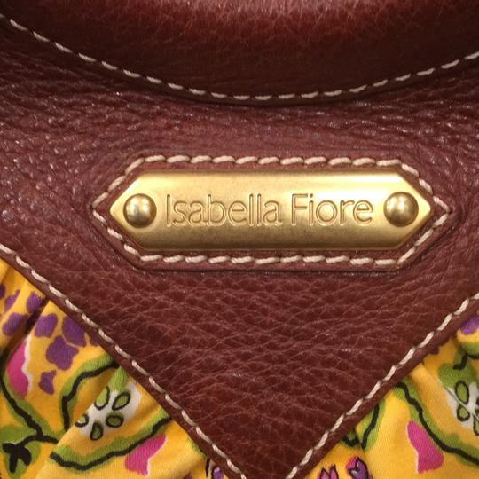 Isabella Fiore Satchel in Print And Brown Leather Image 5