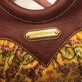 Isabella Fiore Satchel in Print And Brown Leather Image 7