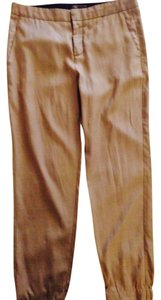 Vince Cropped Cargo Pants Tan