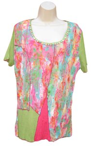 Alberto Makali Beaded Boho T Shirt Multi