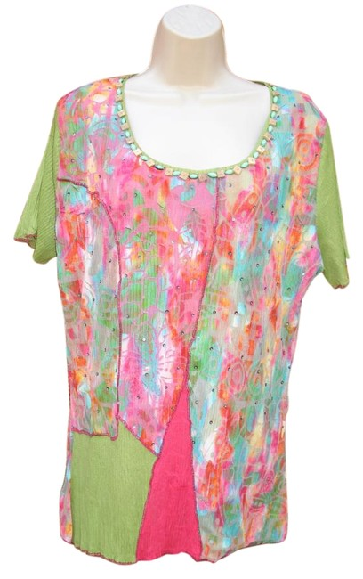 Preload https://img-static.tradesy.com/item/20126521/alberto-makali-multicolor-blouse-crinkle-xl-beaded-tee-shirt-size-16-xl-plus-0x-0-2-650-650.jpg