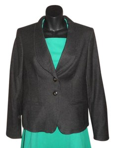 Escada Wool Charcoal Grey Blazer