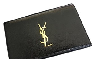 Saint Laurent Classic Leather Monogram black Clutch