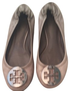 Tory Burch Grey With Silver Flats
