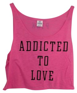 PINK Crop Addicted To Love Victoria's Secret Top Pink