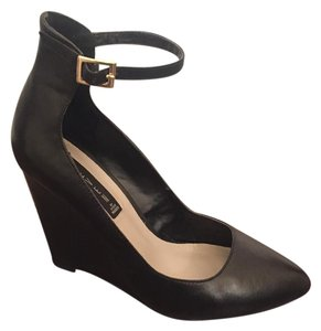 Steven by Steve Madden Black Wedges